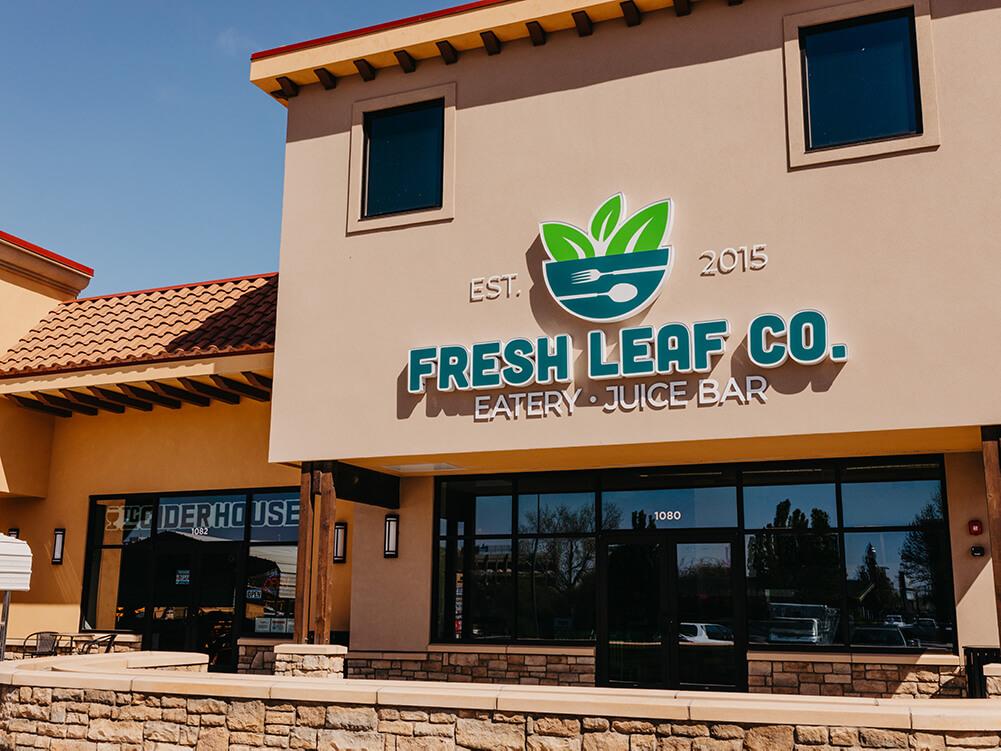 Exterior of Fresh Leaf Co at 1080 George Washington Way Richland, WA 99352